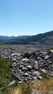 A stop at the Frank Slide- Canada's deadliest rockslide. Half this mountain came down and buried the town of Frank while people slept. Pretty eerie place.