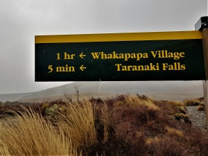 Taranaki Falls Trail Sign