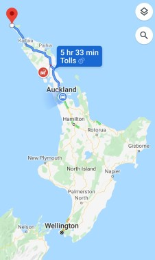 Auckland to Cape Reinga Drive Time